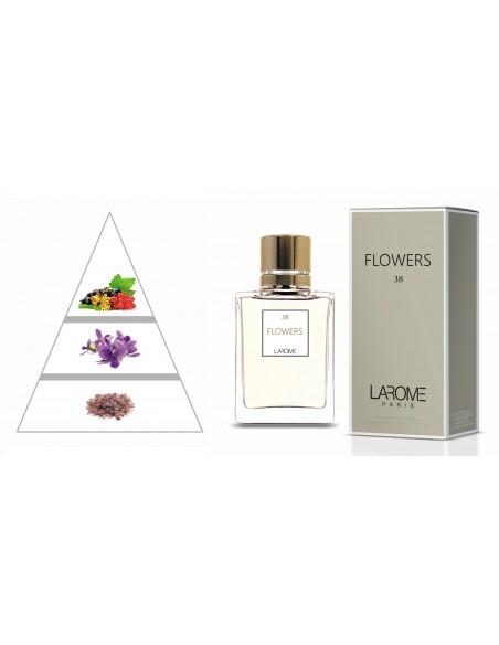 FLOWERS by LAROME (38F) Perfume Feminino - Pirâmide olfatória