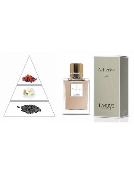 ADICTIVE by LAROME (41F) Perfume Feminino - Pirâmide olfatória