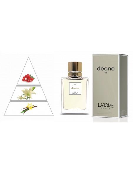 DEONE by LAROME (44F) Perfume Feminino - Pirâmide olfatória
