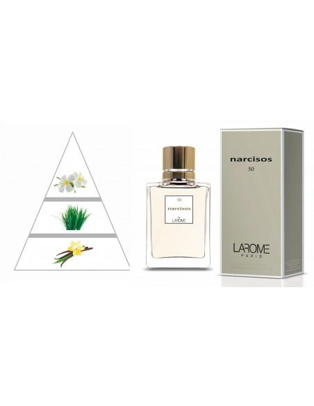 NARCISOS by LAROME (50F) Perfume Feminino - Pirâmide olfatória