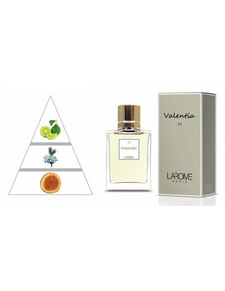 VALENTÍA by LAROME (51F) Perfume Feminino - Pirâmide olfatória