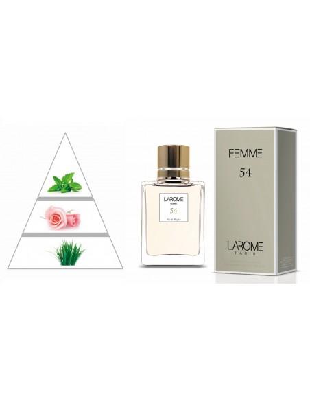 LAROME (54F) Parfum Femme - Pyramide olfactive