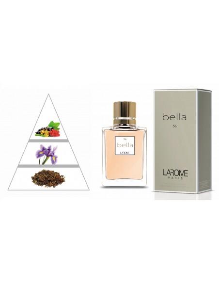 BELLA by LAROME (56F) Perfume Feminino - Pirâmide olfatória