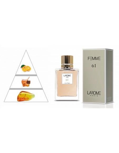 LAROME (61F) Perfume Feminino - Pirâmide olfatória