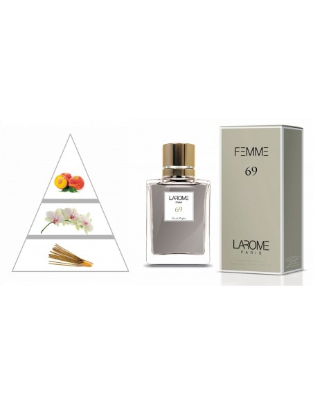 LAROME (69F) Perfume Feminino - Pirâmide olfatória