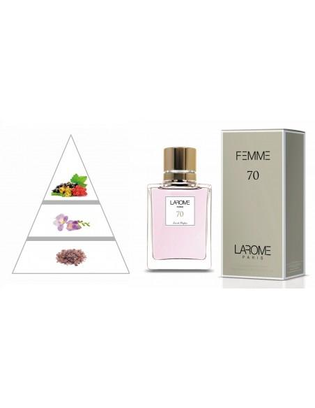 LAROME (70F) Perfume Feminino - Pirâmide olfatória