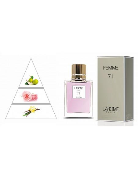 LAROME (71F) Parfum Femme - Pyramide olfactive