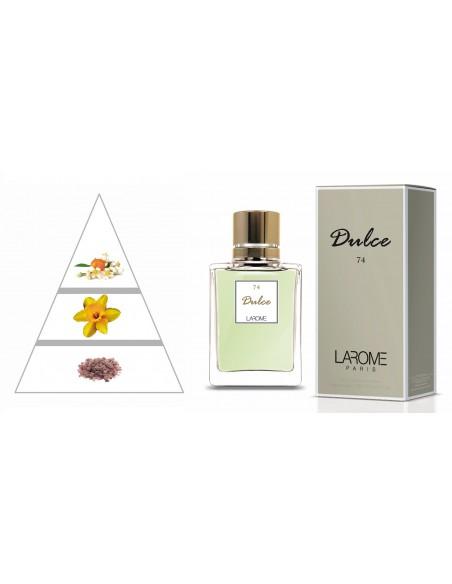 DULCE by LAROME (74F) Perfume Feminino - Pirâmide olfatória
