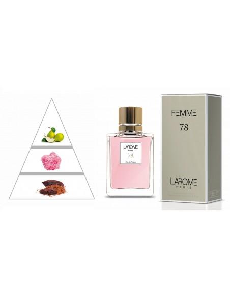 LAROME (78F) Parfum Femme - Pyramide olfactive