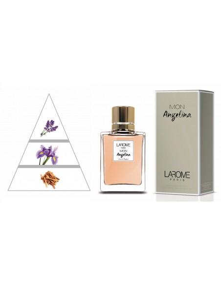 MON ANGELINA by LAROME (91F) Perfume Feminino - Pirâmide olfatória