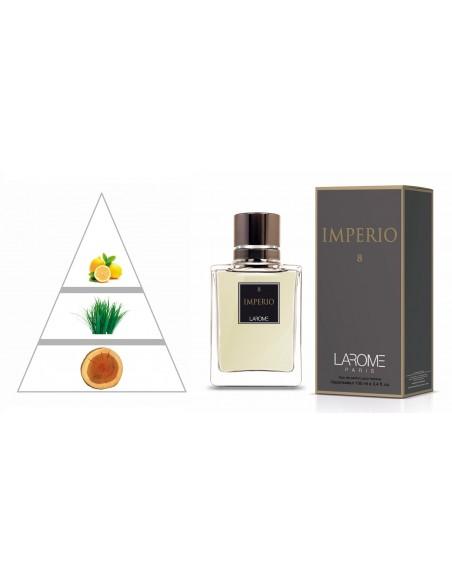 IMPERIO by LAROME (8M) Perfume Masculino - Pirâmide olfatória