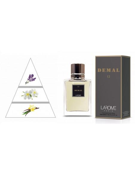 DEMAL by LAROME (12M) Perfume Masculino - Pirâmide olfatória