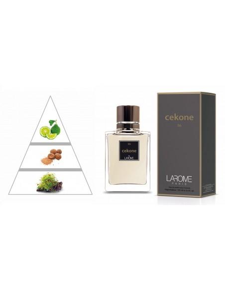 CEKONE by LAROME (16M) Parfum Homme - Pyramide olfactive