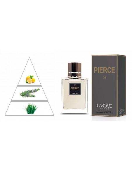 PIERCE by LAROME (26M) Perfume Masculino - Pirâmide olfatória