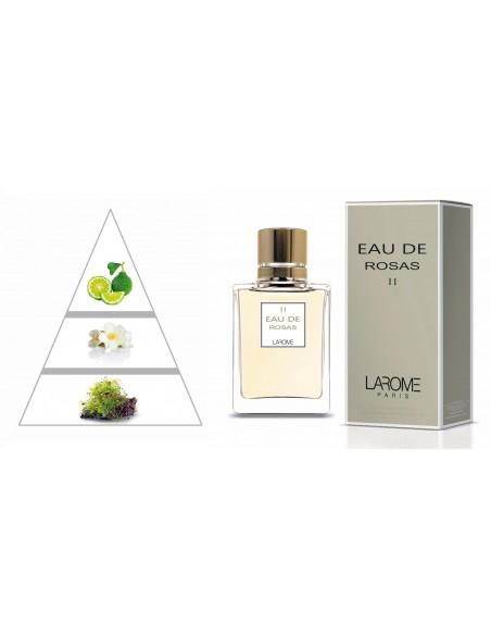 EAU DE ROSAS by LAROME (11F) Perfume Feminino - Pirâmide olfatória