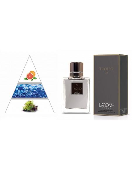 TROFEO by LAROME (30M) Perfume Masculino - Pirâmide olfatória