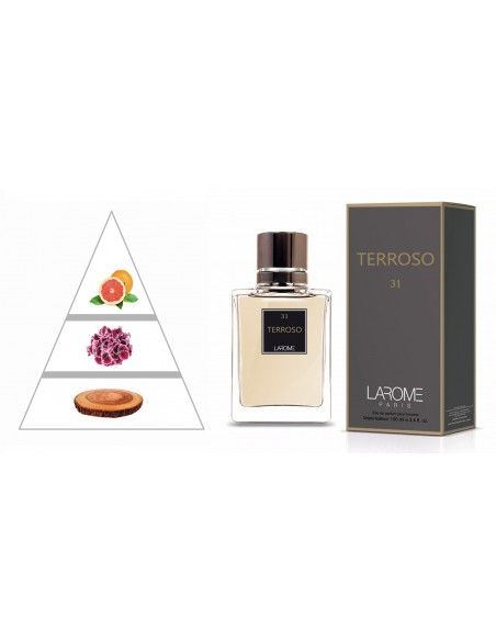 TERROSO by LAROME (31M) Parfum Homme - Pyramide olfactive