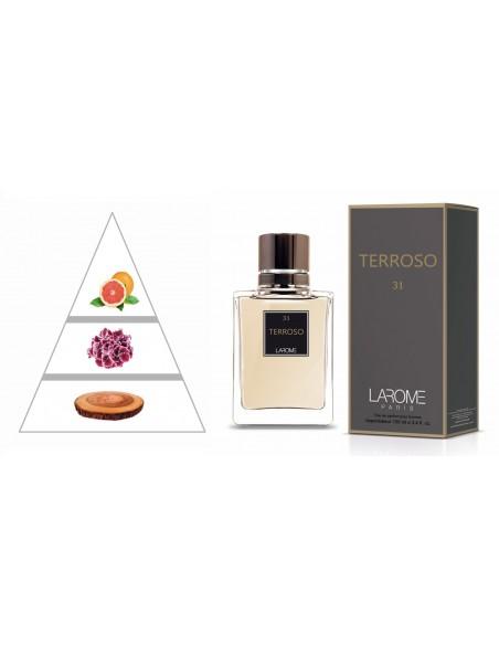 TERROSO by LAROME (31M) Perfume Masculino - Pirámide olfativa