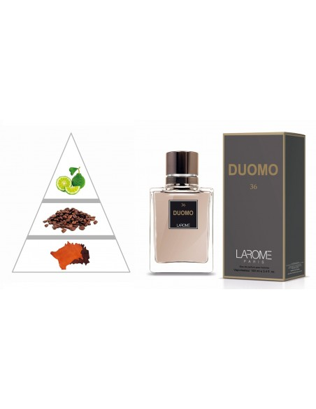 DOUMO by LAROME (36M) Perfume Masculino - Pirâmide olfatória