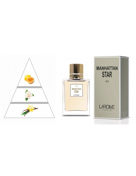 MANHATTAN STAR by LAROME (63F) Perfume for Woman - Olfactory pyramid