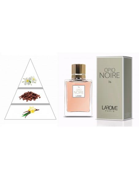OPIO NOIRE by LAROME (76F) Perfume Feminino - Pirâmide olfatória