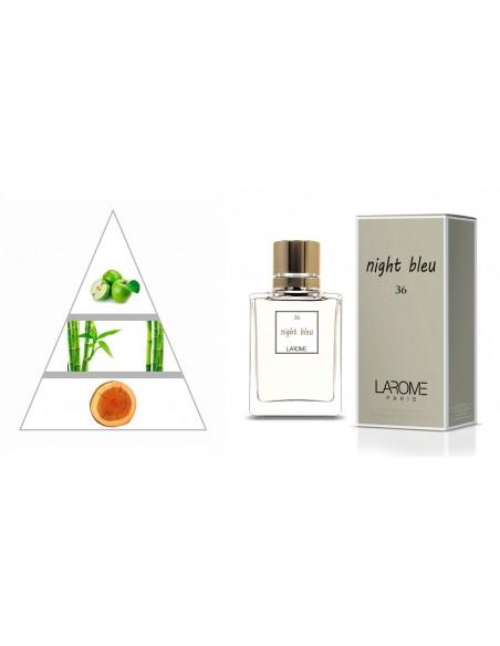 NIGHT BLEU by LAROME (36F) Perfume Feminino - Pirâmide olfatória