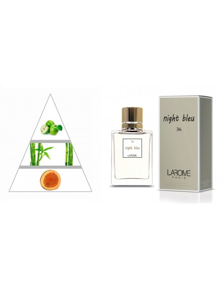 NIGHT BLEU by LAROME (36F) Perfume for Woman - Olfactory pyramid