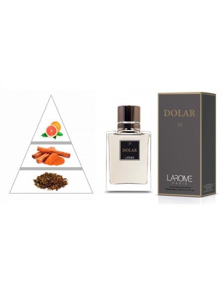 DOLAR by LAROME (25M) Parfum Homme - Pyramide olfactive