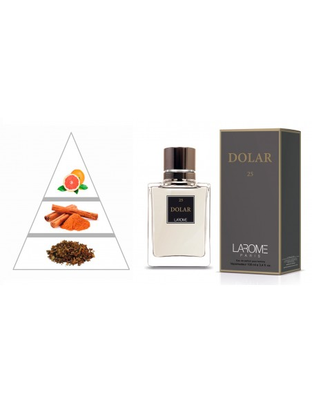 DOLAR by LAROME (25M) Perfume for Man - Olfactory pyramid
