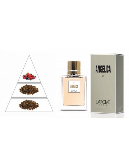 ANGELICA by LAROME (25F) Perfume Feminino - Pirâmide olfatória