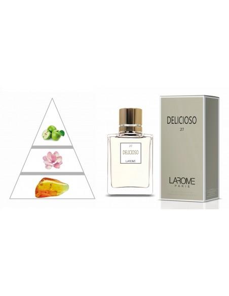 DELICIOSO by LAROME (27F) Perfume Feminino - Pirâmide olfatória