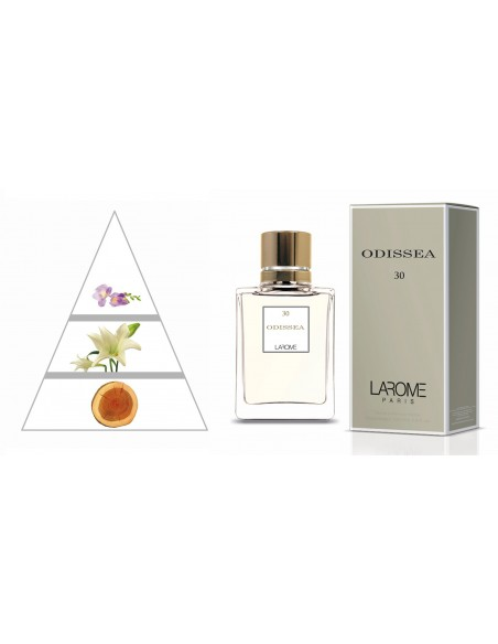 ODISSEA by LAROME (30F) Perfume Feminino - Pirâmide olfatória