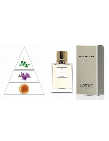 INFRAROUGE by LAROME (34F) Profumo Femminile - Piramide olfattiva